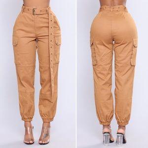 3 for $20 Fashion Nova Cargo Chic Pants Camel